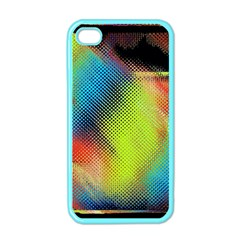 Punctulated Colorful Ground Noise Nervous Sorcery Sight Screen Pattern Apple iPhone 4 Case (Color)