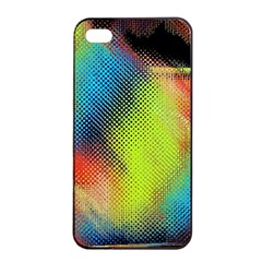 Punctulated Colorful Ground Noise Nervous Sorcery Sight Screen Pattern Apple iPhone 4/4s Seamless Case (Black)