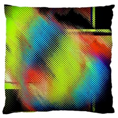 Punctulated Colorful Ground Noise Nervous Sorcery Sight Screen Pattern Large Cushion Case (One Side)
