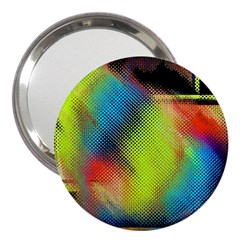 Punctulated Colorful Ground Noise Nervous Sorcery Sight Screen Pattern 3  Handbag Mirrors
