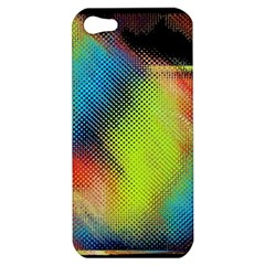 Punctulated Colorful Ground Noise Nervous Sorcery Sight Screen Pattern Apple iPhone 5 Hardshell Case