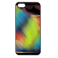 Punctulated Colorful Ground Noise Nervous Sorcery Sight Screen Pattern Apple iPhone 5 Seamless Case (Black)