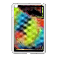 Punctulated Colorful Ground Noise Nervous Sorcery Sight Screen Pattern Apple iPad Mini Case (White)