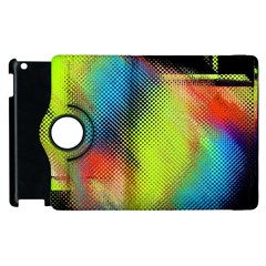 Punctulated Colorful Ground Noise Nervous Sorcery Sight Screen Pattern Apple iPad 2 Flip 360 Case