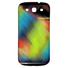 Punctulated Colorful Ground Noise Nervous Sorcery Sight Screen Pattern Samsung Galaxy S3 S III Classic Hardshell Back Case