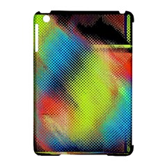 Punctulated Colorful Ground Noise Nervous Sorcery Sight Screen Pattern Apple iPad Mini Hardshell Case (Compatible with Smart Cover)
