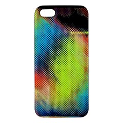 Punctulated Colorful Ground Noise Nervous Sorcery Sight Screen Pattern Apple Iphone 5 Premium Hardshell Case