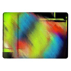 Punctulated Colorful Ground Noise Nervous Sorcery Sight Screen Pattern Samsung Galaxy Tab 10.1  P7500 Flip Case