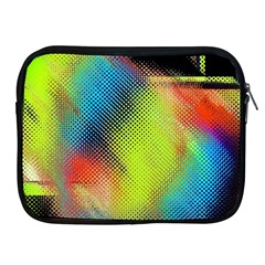 Punctulated Colorful Ground Noise Nervous Sorcery Sight Screen Pattern Apple iPad 2/3/4 Zipper Cases