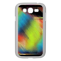 Punctulated Colorful Ground Noise Nervous Sorcery Sight Screen Pattern Samsung Galaxy Grand DUOS I9082 Case (White)