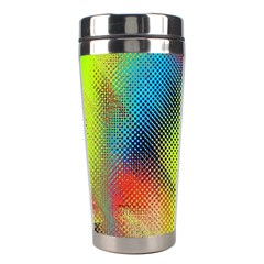 Punctulated Colorful Ground Noise Nervous Sorcery Sight Screen Pattern Stainless Steel Travel Tumblers