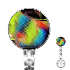 Punctulated Colorful Ground Noise Nervous Sorcery Sight Screen Pattern Stainless Steel Nurses Watch