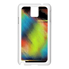 Punctulated Colorful Ground Noise Nervous Sorcery Sight Screen Pattern Samsung Galaxy Note 3 N9005 Case (White)