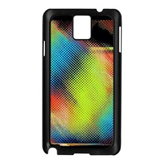 Punctulated Colorful Ground Noise Nervous Sorcery Sight Screen Pattern Samsung Galaxy Note 3 N9005 Case (Black)