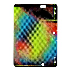 Punctulated Colorful Ground Noise Nervous Sorcery Sight Screen Pattern Kindle Fire HDX 8.9  Hardshell Case