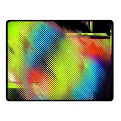 Punctulated Colorful Ground Noise Nervous Sorcery Sight Screen Pattern Double Sided Fleece Blanket (Small)