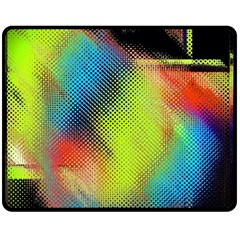 Punctulated Colorful Ground Noise Nervous Sorcery Sight Screen Pattern Double Sided Fleece Blanket (medium)