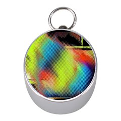 Punctulated Colorful Ground Noise Nervous Sorcery Sight Screen Pattern Mini Silver Compasses
