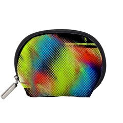 Punctulated Colorful Ground Noise Nervous Sorcery Sight Screen Pattern Accessory Pouches (Small)