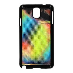 Punctulated Colorful Ground Noise Nervous Sorcery Sight Screen Pattern Samsung Galaxy Note 3 Neo Hardshell Case (Black)