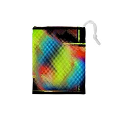 Punctulated Colorful Ground Noise Nervous Sorcery Sight Screen Pattern Drawstring Pouches (small)
