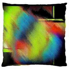 Punctulated Colorful Ground Noise Nervous Sorcery Sight Screen Pattern Large Flano Cushion Case (One Side)
