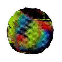 Punctulated Colorful Ground Noise Nervous Sorcery Sight Screen Pattern Standard 15  Premium Flano Round Cushions