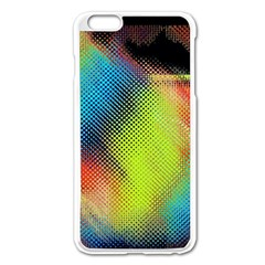 Punctulated Colorful Ground Noise Nervous Sorcery Sight Screen Pattern Apple iPhone 6 Plus/6S Plus Enamel White Case
