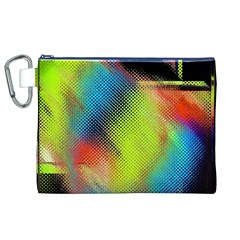 Punctulated Colorful Ground Noise Nervous Sorcery Sight Screen Pattern Canvas Cosmetic Bag (XL)