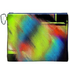 Punctulated Colorful Ground Noise Nervous Sorcery Sight Screen Pattern Canvas Cosmetic Bag (XXXL)