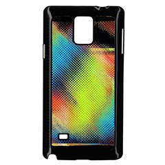 Punctulated Colorful Ground Noise Nervous Sorcery Sight Screen Pattern Samsung Galaxy Note 4 Case (Black)