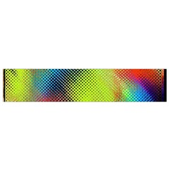 Punctulated Colorful Ground Noise Nervous Sorcery Sight Screen Pattern Flano Scarf (small)
