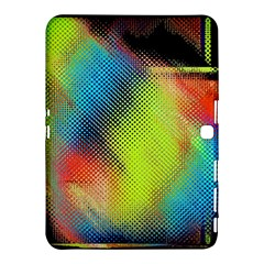 Punctulated Colorful Ground Noise Nervous Sorcery Sight Screen Pattern Samsung Galaxy Tab 4 (10.1 ) Hardshell Case