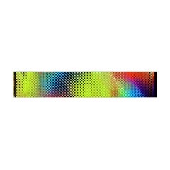 Punctulated Colorful Ground Noise Nervous Sorcery Sight Screen Pattern Flano Scarf (mini)