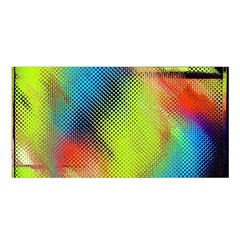 Punctulated Colorful Ground Noise Nervous Sorcery Sight Screen Pattern Satin Shawl