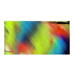 Punctulated Colorful Ground Noise Nervous Sorcery Sight Screen Pattern Satin Wrap