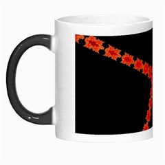 Red Fractal Cross Digital Computer Graphic Morph Mugs