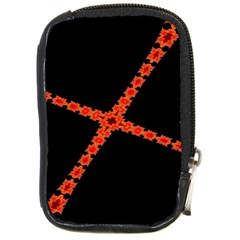 Red Fractal Cross Digital Computer Graphic Compact Camera Cases