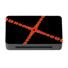Red Fractal Cross Digital Computer Graphic Memory Card Reader with CF
