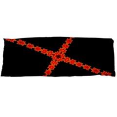 Red Fractal Cross Digital Computer Graphic Body Pillow Case (dakimakura)