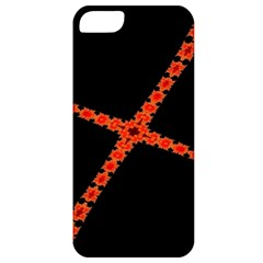 Red Fractal Cross Digital Computer Graphic Apple Iphone 5 Classic Hardshell Case