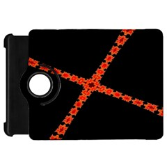 Red Fractal Cross Digital Computer Graphic Kindle Fire HD 7