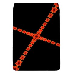 Red Fractal Cross Digital Computer Graphic Flap Covers (L)