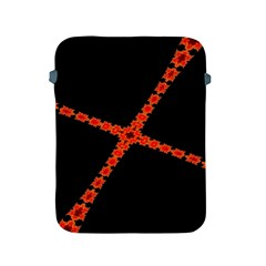 Red Fractal Cross Digital Computer Graphic Apple iPad 2/3/4 Protective Soft Cases