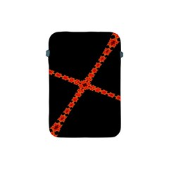 Red Fractal Cross Digital Computer Graphic Apple iPad Mini Protective Soft Cases