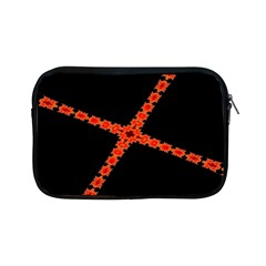 Red Fractal Cross Digital Computer Graphic Apple iPad Mini Zipper Cases