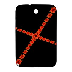 Red Fractal Cross Digital Computer Graphic Samsung Galaxy Note 8.0 N5100 Hardshell Case