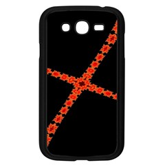 Red Fractal Cross Digital Computer Graphic Samsung Galaxy Grand DUOS I9082 Case (Black)