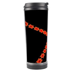 Red Fractal Cross Digital Computer Graphic Travel Tumbler