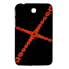 Red Fractal Cross Digital Computer Graphic Samsung Galaxy Tab 3 (7 ) P3200 Hardshell Case